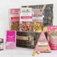 Joe & Seph's Popcorn, bobler & sjokolade-gavekurv