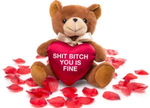 Teddybjørn med hjerte